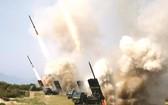 朝鮮火力打擊訓練現場一瞥。