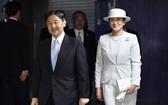 日皇德仁與皇后雅子7日出席日本更生保護70週年大會。 (共同社提供)