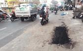 馬虎地鋪路,對交通安全與市容造成影響。