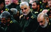 伊朗高級軍官蘇萊馬尼(中)。