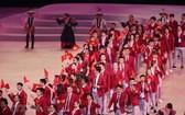 參加第三十屆東運會的越南體育代表團。