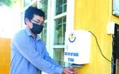 富安職技高等學校成功研製消毒洗手機。