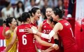 中國女排依然高居第一位。