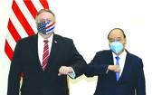政府總理接見美國務卿邁克爾‧蓬佩奧。