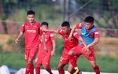越南男子U22足球隊運動員正在培訓。