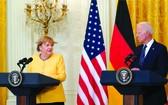 美總統拜登和德總理默克爾舉行聯合新聞發佈會。
