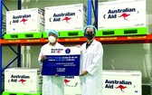 昨日澳大利亞援助疫苗已經運抵新山一機場。