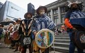 9月30日,加拿大原住民參加在溫哥華舉辦的「全國真相與和解日」活動。 新華社發(梁森攝)