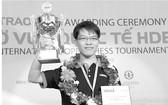 """黎光廉曾獲得2013年 """"市住房開發銀行盃""""國際象棋公開賽冠軍。"""