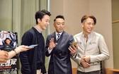 蔡瀚億(左起)、姜皓文與吳卓羲