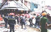 樓宇倒塌現場。(圖片來源:互聯網)
