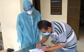 一患者辦理出院手續。