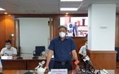 衛生部副部長阮長山在會上發言。