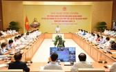 政府總理范明政主持有關為企業紓困的視像會議。