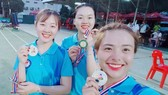 Các nữ cung thủ giành HCV châu Á nội dung cung 3 dây đồng đội.