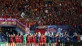 ĐT Việt Nam thăng tiến mạnh mẽ trên bảng xếp hạng FIFA. Ảnh: Dũng Phương