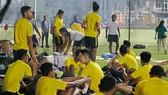 ĐT Malaysia đã có mặt tại Hà Nội. Ảnh: Minh Hoàng