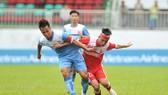 U21 Phố Hiến (áo xanh) giành vé cuối cùng vào bán kết. Ảnh: Nguyễn Nhân