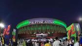 Nhà thi đấu đa năng Philippines Arena nhìn từ bên ngoài. Ảnh: Dũng Phương