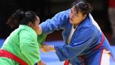 Nguyễn Thị Thanh Thủy thắng tuyệt đối ở hạng cân 70kg nữ.
