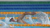Kình ngư Nguyễn Huy Hoàng đoạt HCV 400m tự do và phá kỷ lục SEA Games 30. Ảnh: DŨNG PHƯƠNG