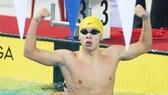 Kình ngư Trần Duy Khôi giành HCV 200m bơi ngửa nam.