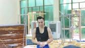 VĐV Lê Thanh Tùng đang tập luyện tại Trung tâm HLTTQG Hà Nội. Ảnh: NVCC