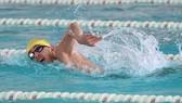 Kình ngư Nguyễn Huy Hoàng tập luyện chuẩn bị cho Olympic Tokyo 2020. Ảnh: P.NGUYỄN