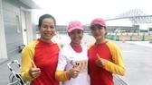 Các cô gái rowing Việt Nam tại đấu trường Olympic.