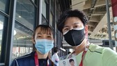 Võ sĩ Trương Thị Kim Tuyền và chuyên gia Hàn Quốc đã đến Tokyo.