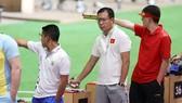 Xạ thủ Hoàng Xuân Vinh thi đấu tại Olympic Tokyo 2020. Ảnh: T.S