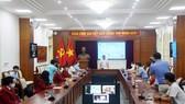 Tổng cục TDTT gặp mặt trực tuyến đoàn thể thao NKT Việt Nam chuẩn bị dự Paralympic 2020. Ảnh: Tổng cục TDTT