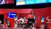 Châu Hoàng Tuyết Loan thi đấu hạng hạng cân 55kg nữ. Ảnh: TC TDTT
