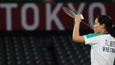 Tay vợt Nguyễn Thuỳ Linh liên tục thi đấu nội bộ với các đồng nghiệp nam sau Olympic.