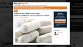 FDA khuyến cáo không dùng thuốc chữa sốt rét trong điều trị Covid-19