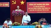 Phó Thủ tướng Thường trực Trương Hòa Bình làm việc tại Cà Mau