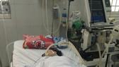 Bà P. đang được điều trị tại Bệnh viện Đa khoa huyện Cái Nước