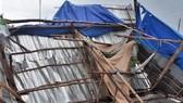 Hiện trường căn nhà ông Nguyễn Văn Sang bị sập do lốc xoáy. ẢNH: THÙY LINH