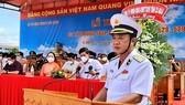 Chuẩn Đô đốc Nguyễn Duy Tỷ phát biểu trong buổi lễ