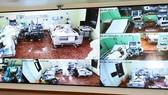 Khu vực điều trị bệnh nhân Covid-19 nặng qua màn hình trung tâm tại Bệnh viện 175