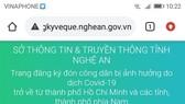 Nghệ An ra mắt website tiếp nhận người dân ở các tỉnh phía Nam đăng ký về quê