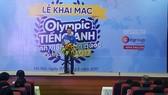 Anh Nguyễn Minh Triết, Trưởng Ban Thanh niên trường học Trung ương Đoàn phát biểu tại khai mạc cuộc thi