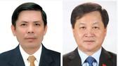 Từ trái qua: ông Nguyễn Văn Thể và ông Lê Minh Khái