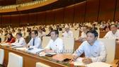 Quốc hội phê chuẩn việc miễn nhiệm chức vụ Bộ trưởng Bộ TT-TT đối với ông Trương Minh Tuấn bằng bỏ phiếu kín. Ảnh: Quochoi.vn