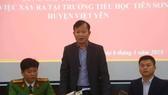 Quang cảnh họp báo ngày 6-3