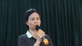 Hiệu trưởng trường THCS Trần Phú trả lời báo chí