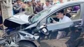 Lái xe dương tính với chất ma tuý khi gây tai nạn liên hoàn tại Đà Lạt, ngày 14-3-2019.