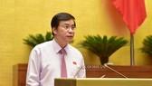 Tổng Thư ký Quốc hội - Chủ nhiệm Văn phòng Quốc hội Nguyễn Hạnh Phúc phát biểu tại phiên họp sáng 22-5-2020. Ảnh: QUOCHOI