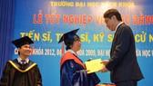 Một lễ trao bằng Tiến sĩ ở trường đại học