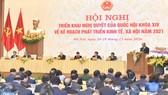 Hội nghị Chính phủ triển khai nhiệm vụ năm 2021 ngày 28-12. Ảnh: QUANG PHÚC